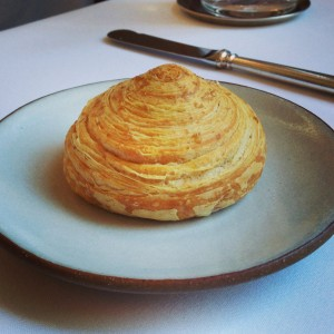 Extremely flakey roll at Eleven Madison Park.